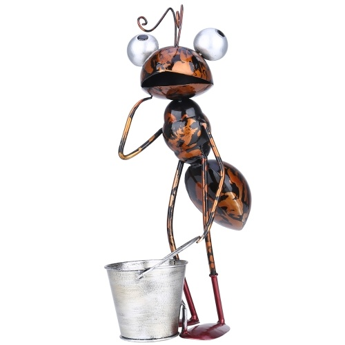 Tooarts 13inch Ant Sculpture Iron Cartoon Ant