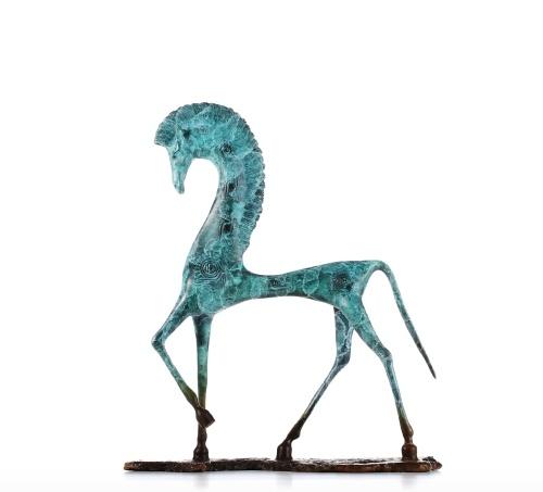 Tooarts Eygpt Caballo Tomfeel Brozne Escultura Cobre Horse Decor