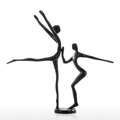 Double Dance 2 Moderne Danse Fer Sculpture Sculpture En Métal Décoration de La Maison Art Collection Cadeau Parfait