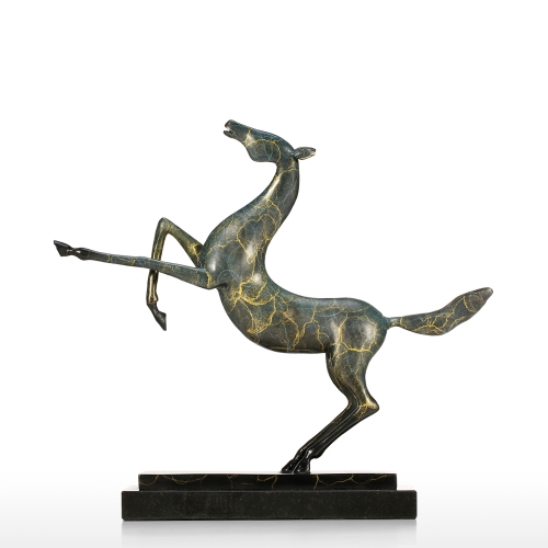 Prancing Horse Decor Statue Gifts Home Decoration Accents Modern Collectible Figurine Art Artist Designed Handmade Sculpture