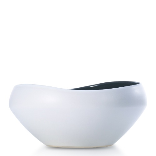 Semi-glossy Ceramic Fruit Bowl Decorative Centerpiece Bowl Best for Serving for Fruit Salad Unique Modern Design