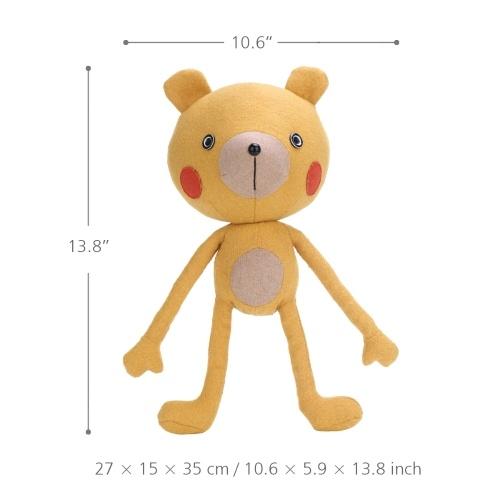 Tooarts | Йога Медведь Кукла Игрушка в форме животных Утешительный и сопереживающий объект Детское украшение Выращивать воображение Качество Хлопок Материал