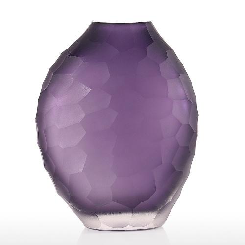 Purple Vase En Verre De Fleur Vase De Décoration pour Salon Table De Cuisine Bureau À Domicile Fête De Mariage ou comme Cadeau