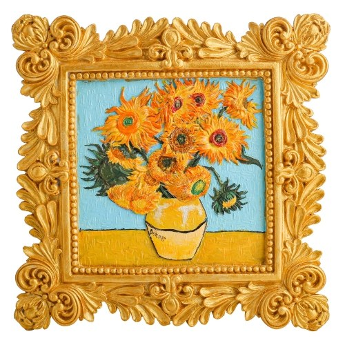 Tooarts DIY Relief Painting Ceramic Epoxy Acrylic Paint Masterpieces Sunflower, Water Lilies, Mother and Son Home Decor DIY Painting Gift Packaging