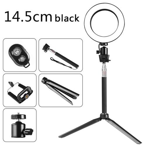 DC5V 5W 64 LED Ring Light Round Selfie Camera Lamp