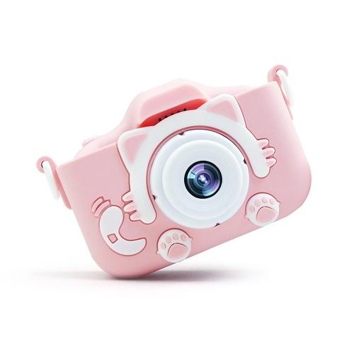 Mini câmera crianças 20MP 1080P pequenos desenhos animados Digital SLR Camera