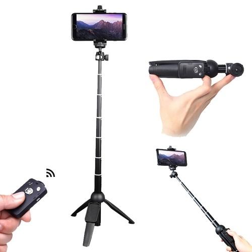 Yunteng 2 in 1 tragbares faltbares Telefon Selfie Stick Stativ