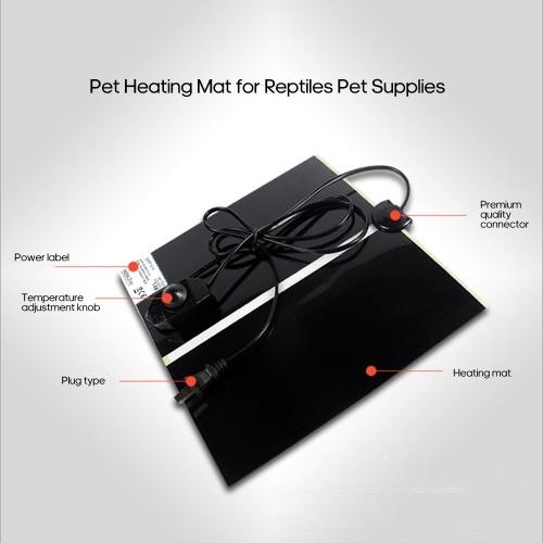 20W Pet Heating Mat Electric Heating Pad Warming Mat for Reptiles Pet Supplies