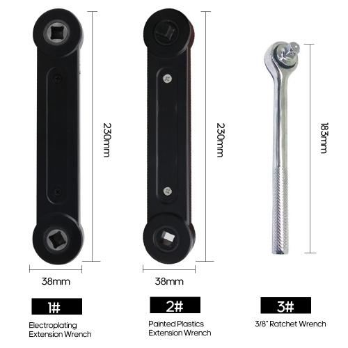"""3/8 """"Универсальный гаечный ключ для дома Механический гаечный ключ для ремонта автомобиля Автомобильные инструменты для ремонта Черный гаечный ключ фото"""