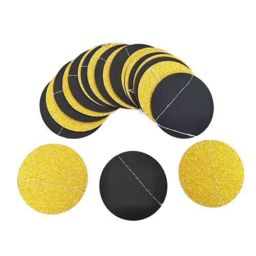 Bunte runde hängende Papierkreis-Girlande