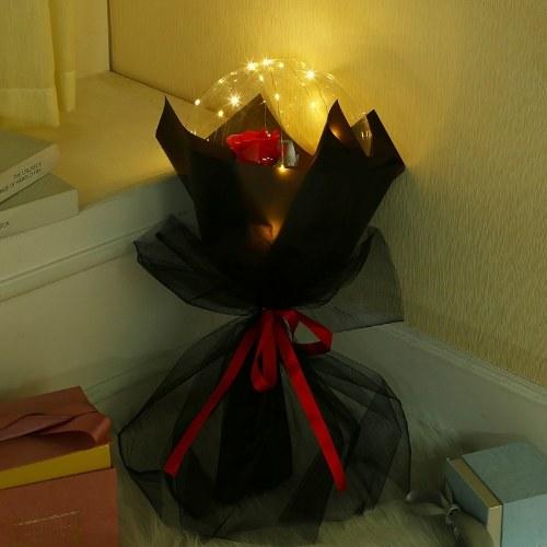 Net Red Valentine's Day Bobo Ball Rose Bouquet