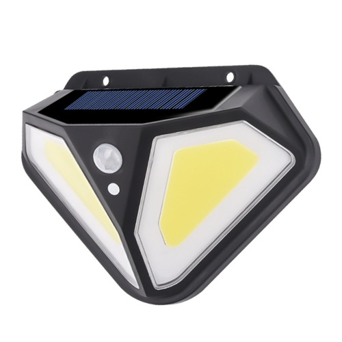 Solar wall light on both sides 102LED human body induction light