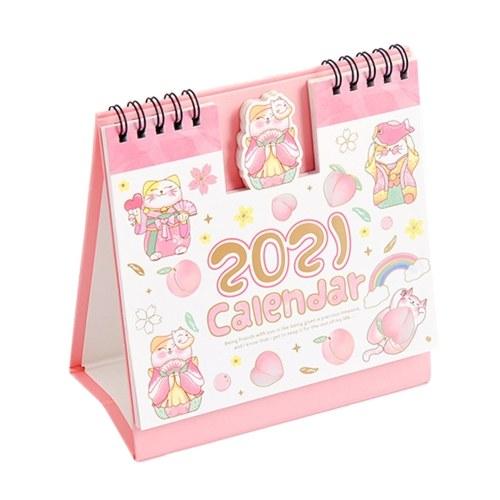 5,9 `` x6,3 '' Mini calendario da tavolo Cartone animato mensile in piedi