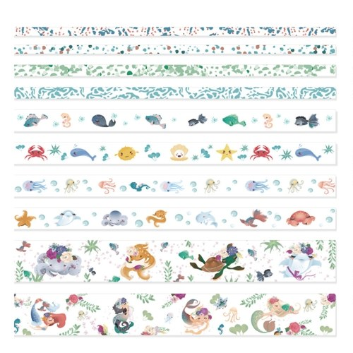 10 Rollen Washi Tape Set