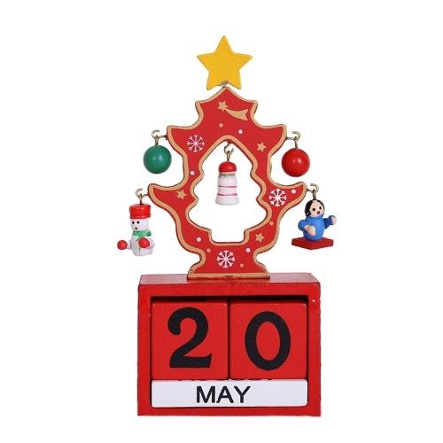 Weihnachten Advent Holzblöcke Kalender Perpetual