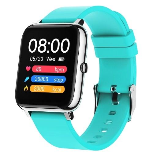 Écran couleur IPS tactile de 1,4 pouces Bracelet intelligent Fréquence cardiaque Pression artérielle Oxygène sanguin Surveillance de la santé Fitness Tracker IP67 Montre BT étanche Smartwatches pour hommes Femmes Compatible avec Android / iOS
