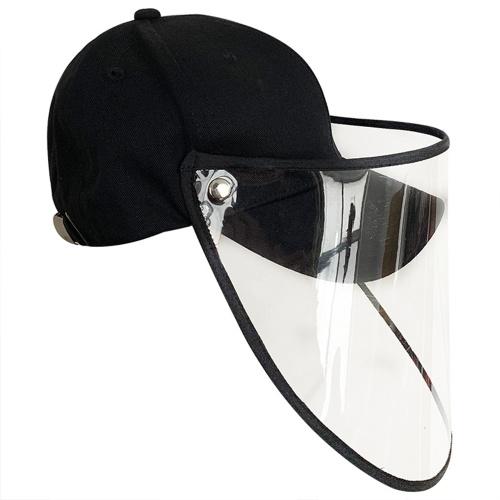 Protective Baseball Hat Anti-fog Anti-virus Removable Transparent Dust-proof Epidemic Prevention Mask Sunscreen Adjustable Cap