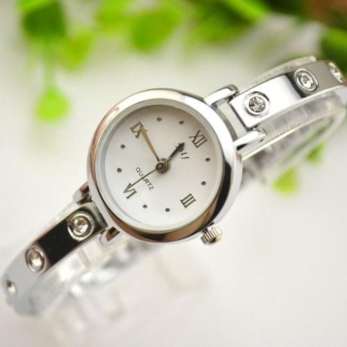 Fashionable Stylish Crystal Rhinestone Women Watch Bracelet Watch Wristwatch for Students Lady Teen Girl