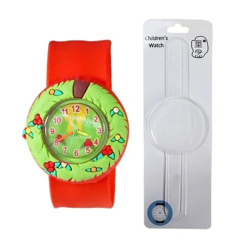 Kids Watch Silikon Slap Armband Weihnachten Armbanduhr Quarz Cartoon Toy Uhren Geschenke für kleine Kinder Kinder