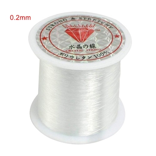 Transparent fishing line nylon hand-woven crystal beaded
