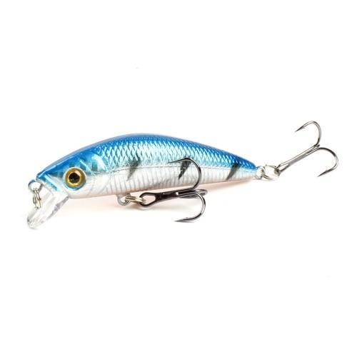 Fishing Lures Hard Bass Bait Lifelike Lures Crankbait 3D Fishing Eyes with 6 Hooks Image