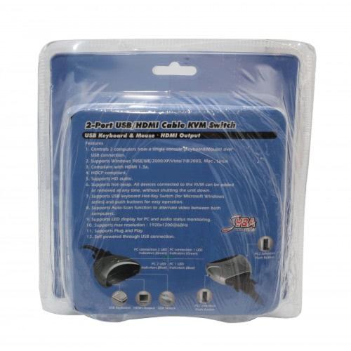 Купить Syba 2 Port Usb 2.0 Hdmi 1.3 Kvm Switch - Sy-Kvm31034