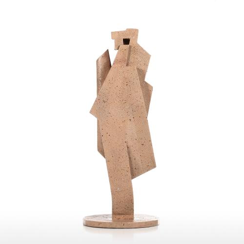 Accordéon Joueur Creative Décoration de La Maison Grès Texture Sentiers Artisanat Abstrait Sculpture Salon Ameublement