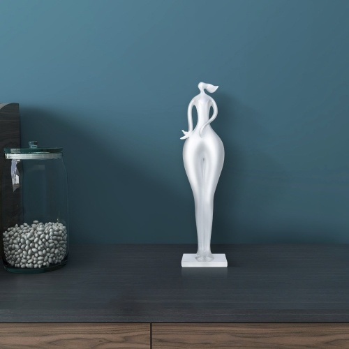 Girl Statue Figurine Lady Figurine Home Accessory Modern Style Art Sculpture Home Decor