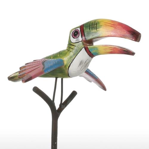 Tooarts tropikalnych ptaków Żywica Rzeźba CSF Ozdoba kryty wystrój Pomnik figurki Streszczenie Przejaskrawiaj Modern Art