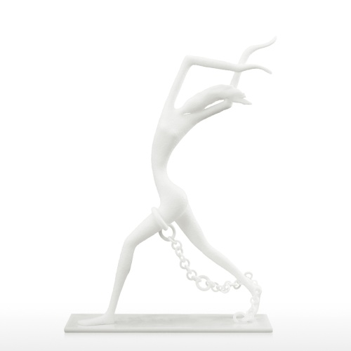 Bounded Person with Chain 3D Printed Sculpture Human Figurine Desktop Decor Abstract Sculpture Statue