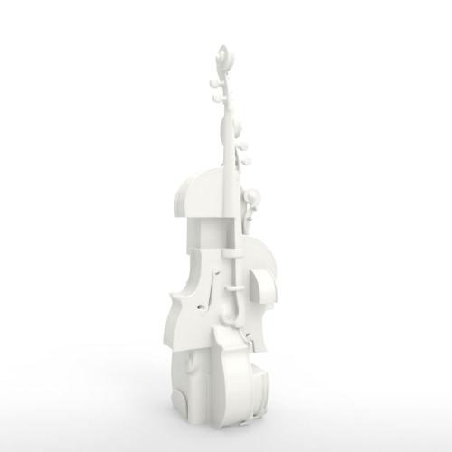 Skrzypce Fantasia Tomfeel 3D Rzeźbione Rzeźby Instrument Ozdoby Domowe
