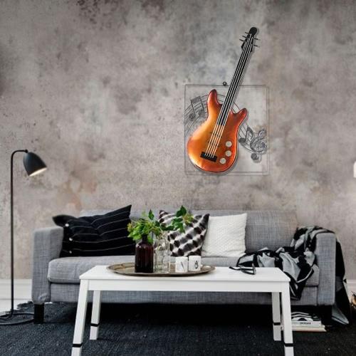 Tooarts guitare Ornement suspendu Décoration d'intérieur Tentures murales Décor Instrument de musique Artisanat Cadeau