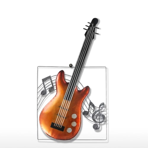 Tooarts Guitar Hanging Ornament Home Decor Wall Hangings Decor Music Instrument Craft