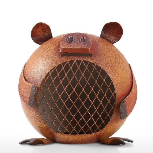 Lovely Piggy Bank Money Saving Bank for Kids Iron Coin Bank Nursery Gift Decor Decorative Ornament