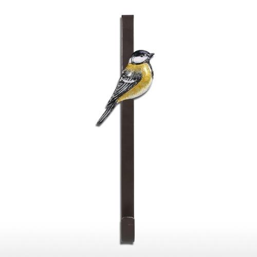 Crochet de porte oiseau tête bleue au-dessus du crochet de porte organisateur titulaire de cintre décoratif en métal pour la maison