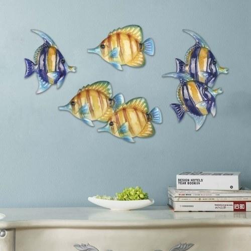 Tropical Fish Wall Hanging 1 Iron Wall Decor Creative Ornament Craft 16.1