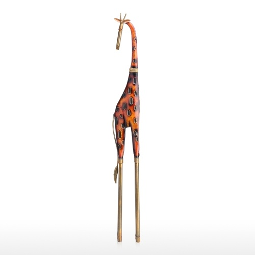 Tooarts large Giraffe Ornament Iron Art Decor Handmade Craft Home and Outdoor Decoration Perfect Gift for Giraffe and Animal Lovers