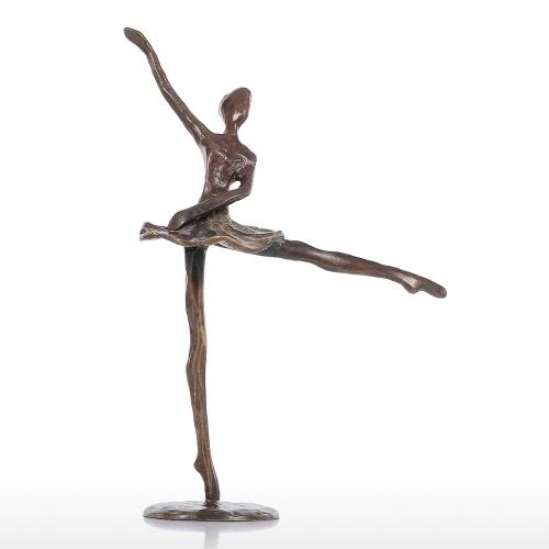 Baile de ballet Escultura Chica de ballet de hierro Estatuilla Estatuilla de la bailarina Estatua femenina Decoración del hogar Ornamento de escritorio