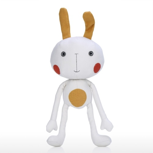 Tooarts| Yoga Bunny Doll Cartoon Animal Shape Toy Comforting and Empathy Object Childlike Ornament Cultivate Imagination Quality Cotton Material