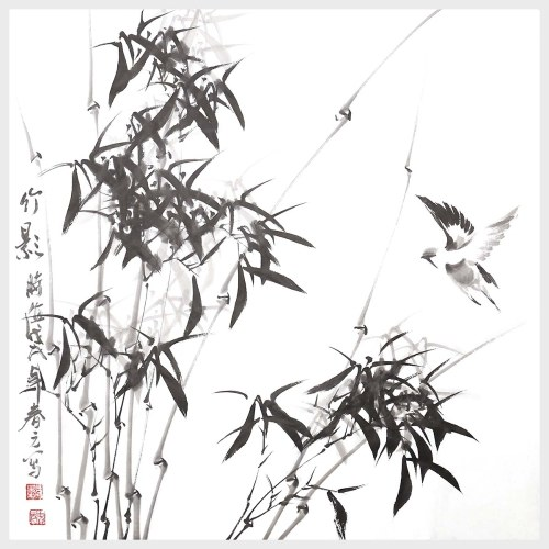 Bamboo Shadow Traditional Chinese Painting Nature Painting Picture for Home Decor Decoration Gift