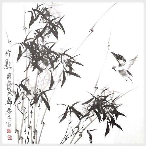 Sombra de bambú pintura china tradicional pintura naturaleza cuadro para la decoración del hogar regalo de la decoración