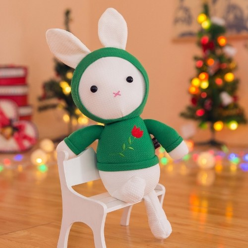 Novo brinquedo de pelúcia fofo subiu boneca de coelho