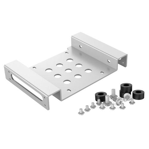 ORICO Staffa di montaggio per disco rigido da 2,5 pollici Kit di montaggio interno in lega di alluminio per HDD da 2,5 '' IDE / SATA / SSD argento