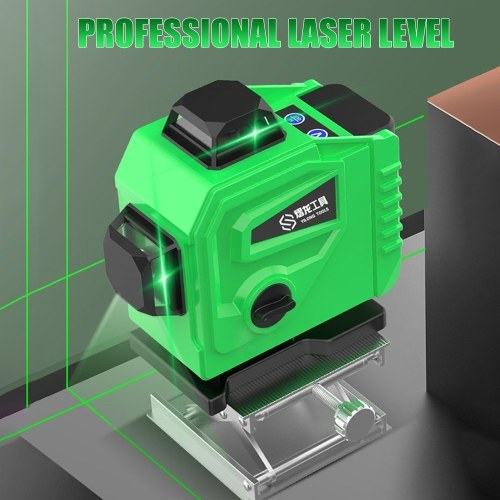 Infrared Laser-level 12 Lines 3D 16 Lines 4D Cross-line Green Blue Laser-beam Vertical and Horizontal Self-leveling Cross-line Powerful with Remote Co