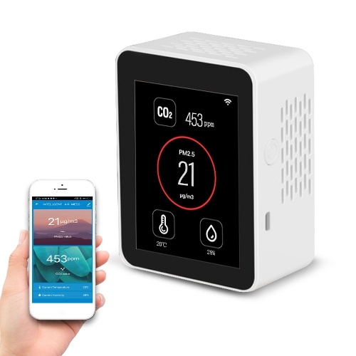 Tuya WIFI 2.8 Inch TFT Color Display Screen Intelligent CO2 PM2.5 Temperature Humidity Multifunctional Detector