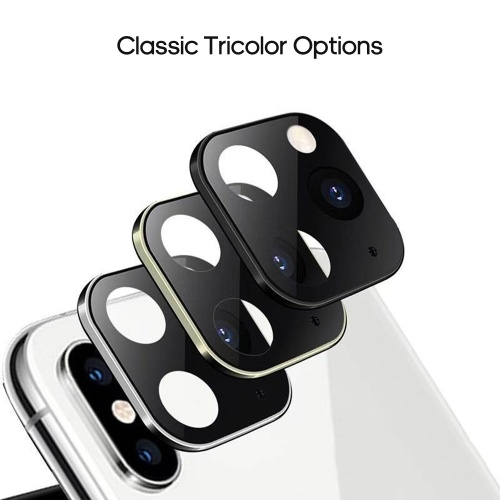 Luxury Metal Alumium Camera Lens Seconds Change For i-Phone 11 Protector Compatible for i-Phone X XS MAX Camera Protective Cover Gold