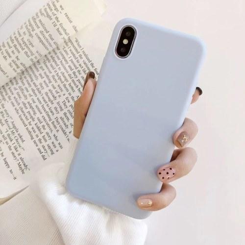 Индивидуальный мобильный телефон оболочки простой просо серии красочные мобильный телефон оболочки новый маленький свежий мобильный телефон защитная крышка белая фото