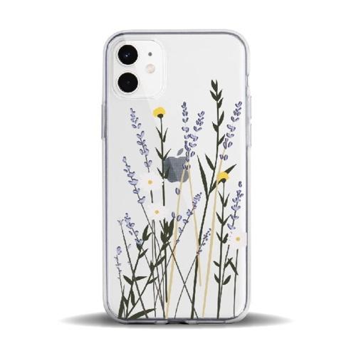 Telefonhülle Transparente Blumenblumen-Designs Weiche TPU-Abdeckung Telefonhüllen Stoßfeste, schlanke, flexible, rutschfeste Handyhülle für das iPhone