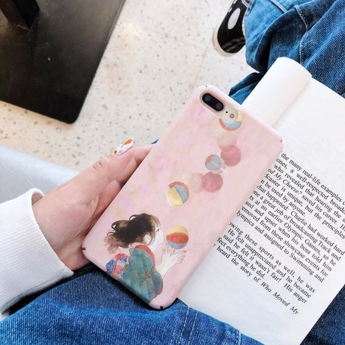 Shockproof Phonecase Cover Hard Shells Slim Matte Full-Body Protective Anti-Slip Cellphone Cover with Pinky Cartoon Cute Girl Balloon Design For XIAOMI For HUAWEI (Huawei NOVA3)