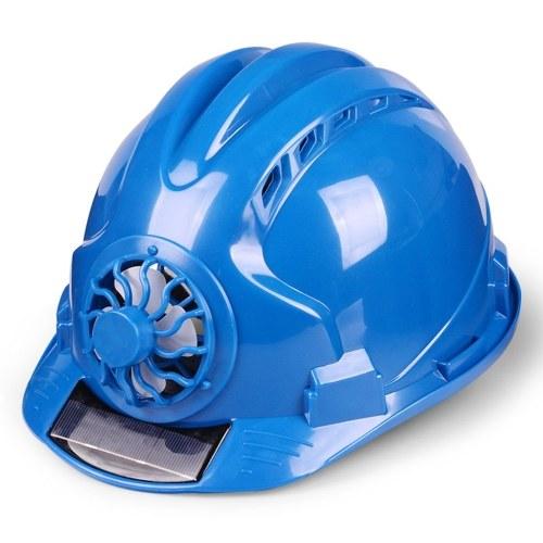 夏の換気ソーラーファンヘルメット建設サイトリーダーシップ日焼け止めサンバイザー帽子建設プロジェクト